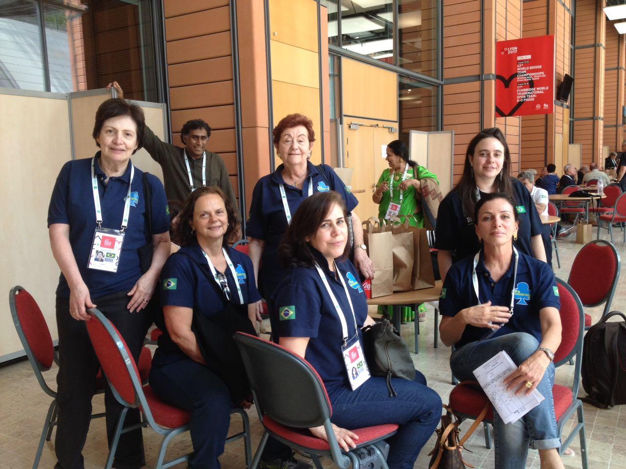 equipe feminina de bridge em Lyon 2017